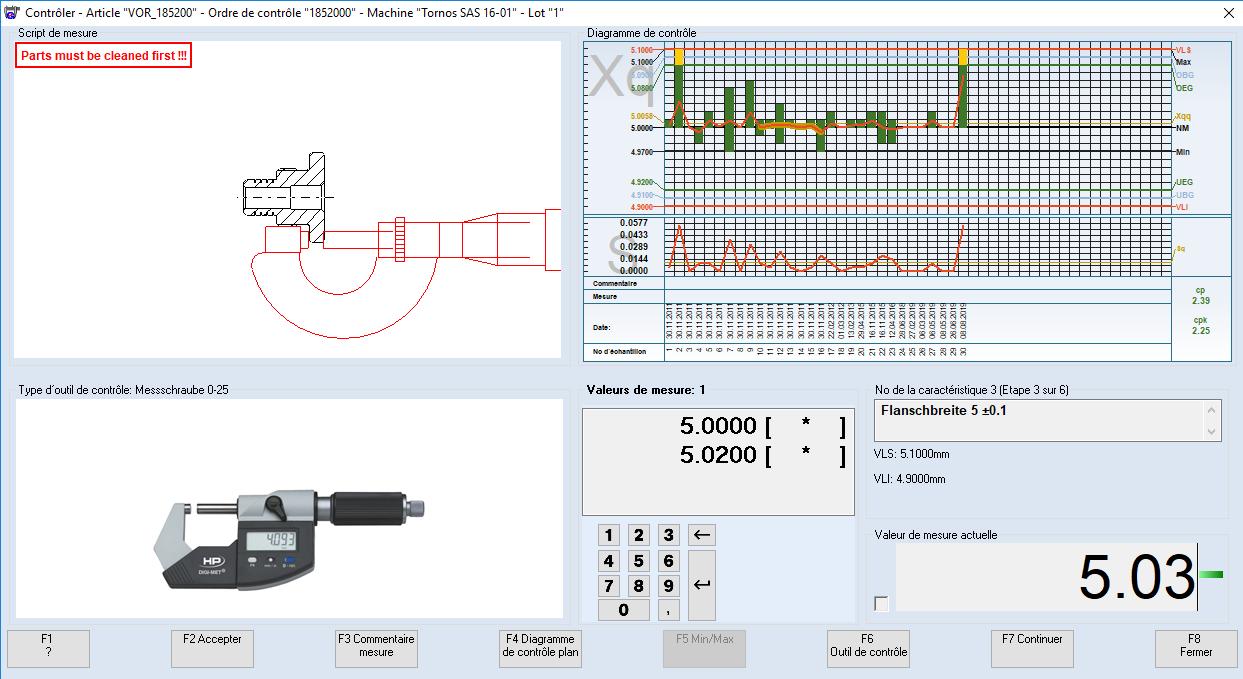 logiciel station de mesure
